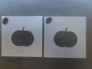 2 x Pumpkin stencils for face painting / many other uses   Halloween